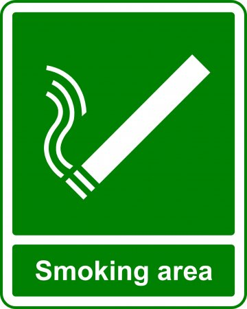 Smoking Area - Safe Condition Sign