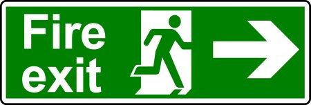 Fire Exit Sign - Man with Right Arrow