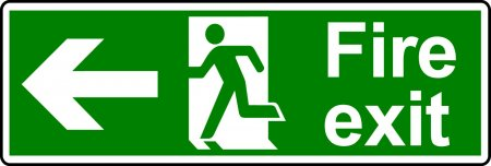 Fire Exit Sign - Man with Left Arrow