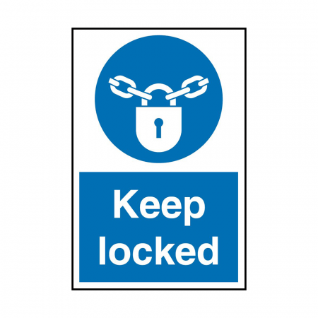 Keep Locked Signs