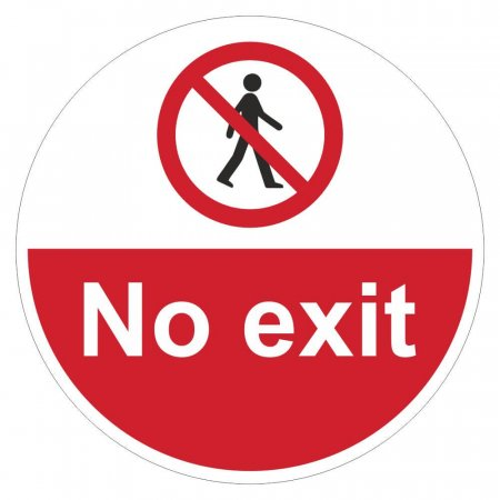 No Exit Sign Floor Graphics