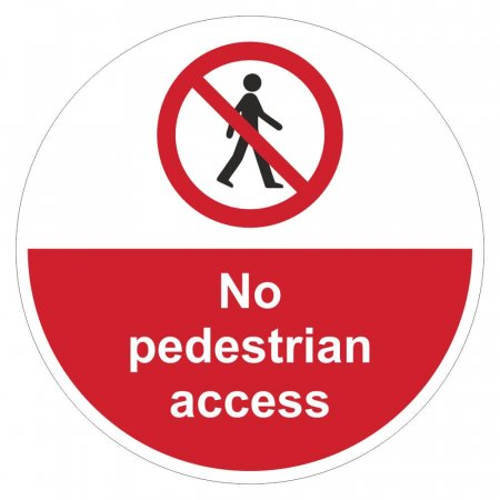 No Pedestrian Access Sign Floor Graphics