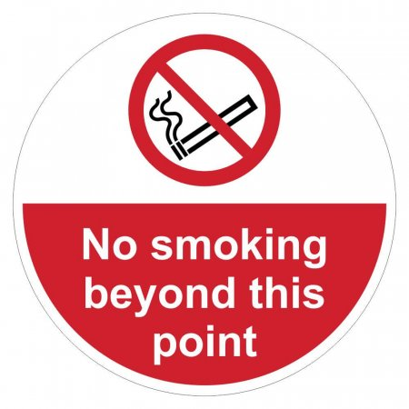 No Smoking Beyond This Point Sign Floor Graphics