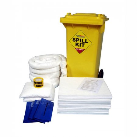 125 Litre Oil & Fuel Spill Kit Wheeled Unit