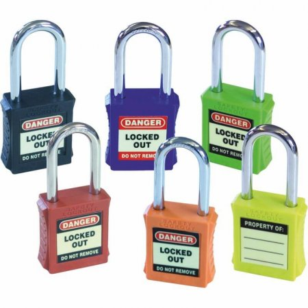 Mixed Colour Pack of Safety Lockout Padlock