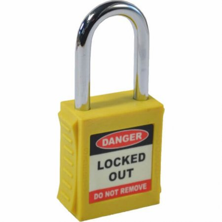 Yellow Safety Lockout Padlock