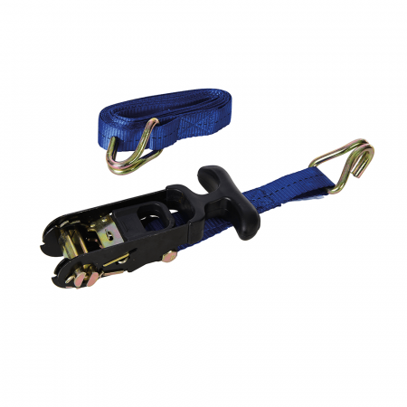 Rubber-Handled Ratchet Tie Down Strap