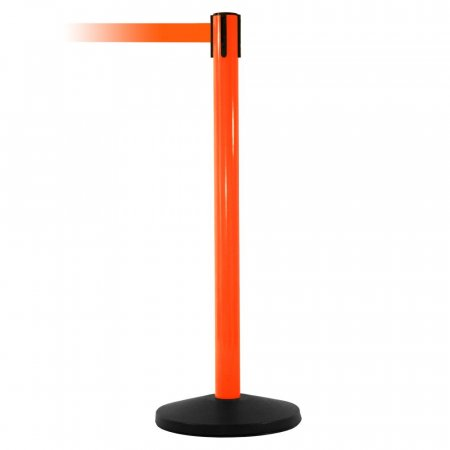 Hi Vis Safety Retractable Belt Barriers - Orange Post