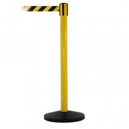 Hi Vis Safety Retractable Belt Barriers - Yellow Post