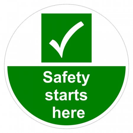 Safety Starts Here Floor Graphic