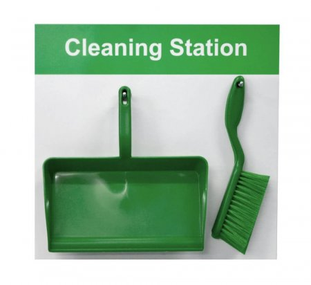 Cleaning Shadow Board - Style D - Green