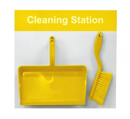 Cleaning Shadow Board - Style D - Yellow