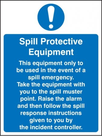 Spill Kit Sign - Spill Protective Equipment