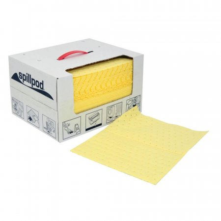 spillpod® Dispenser Box of Absorbent Pads - BX0775