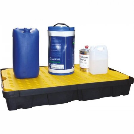 Extra Large Rigid Plastic Spill/Drip Tray with Removable Surface Grids, Capacity of 100 Litres