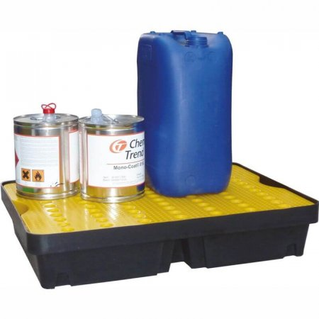 Medium Rigid Plastic Spill/Drip Tray with Removable Surface Grids, Capacity of 40 Litres