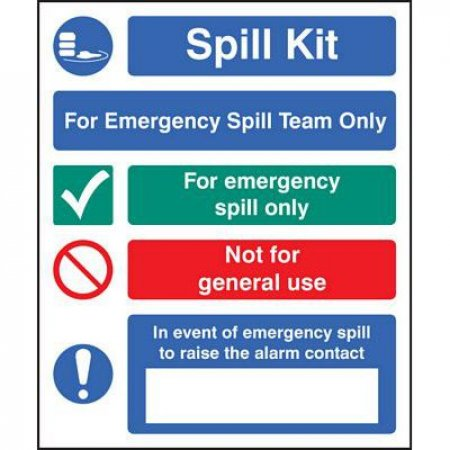 For Emergency Spill Team - Rigid Signs