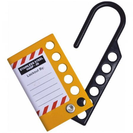 25mm Stainless Steel Lockout Hasp (Black & Yellow)