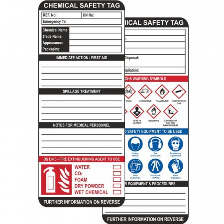 Chemical Safety Tag Inserts