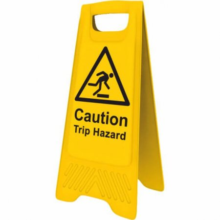 Yellow Trip Hazard Sign
