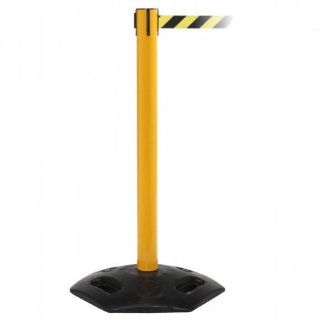 Weathermaster Retractable Safety Barrier - Yellow Post