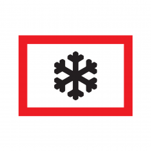 Snow and Ice Rectangular Sign