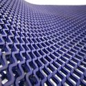 Diamond Grid PVC Safety Matting - Blue