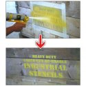 Industrial Stencils being spray painted