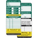 Safety Tag Inserts