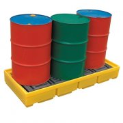 3 Drum Spill Pallet With 228 Litres Sump Capacity