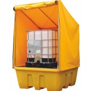 IBC Spill Pallet - Weatherproof Cover - Removable Deck 1260 Litre Sump