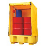 2 Drum Spill Pallet With Weatherproof Cover & 250 Litres Sump Capacity