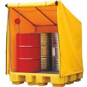 4 Drum Spill Pallet With Cover 250 Litres Sump Capacity