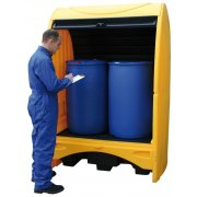2 Drum Hardcover Spill Pallet 250 Litres Sump Capacity
