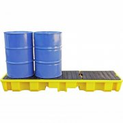 4 Drum Spill Pallet With 235 Litre Sump Capacity