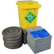 120 Ltr EVO Universal Spill Kit - Yellow Wheelie Bin