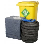 240 Ltr EVO Universal Spill Kit - Yellow Wheelie Bin