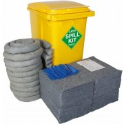 360 Ltr EVO Universal Spill Kit - Yellow Wheelie Bin