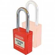 Safety Lockout Padlocks - 5 Pack (Keyed-differ with 2 master)