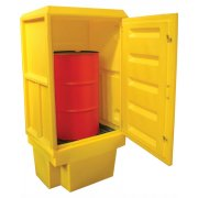 Single Drum Spill Pallet Cabinet -  250 Litres Sump Capacity
