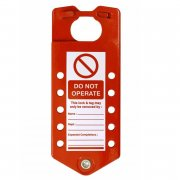 Aluminium Lockout Sign Hasp - 10 Hole
