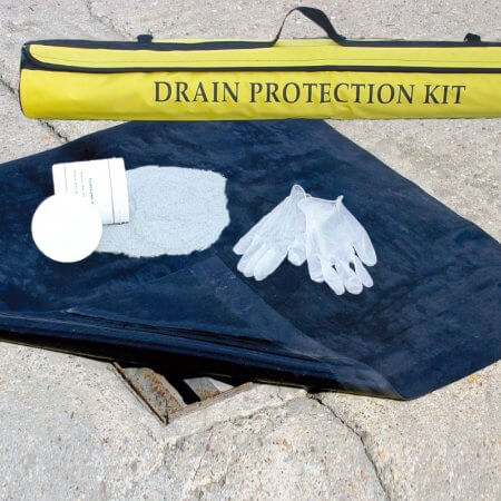 Drain Protection Kit in Use