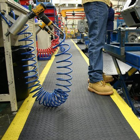 Safety Deckplate Matting In USe