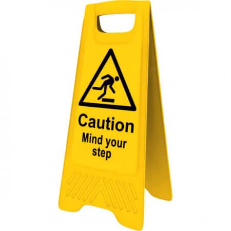 Yellow Mind the Step Sign
