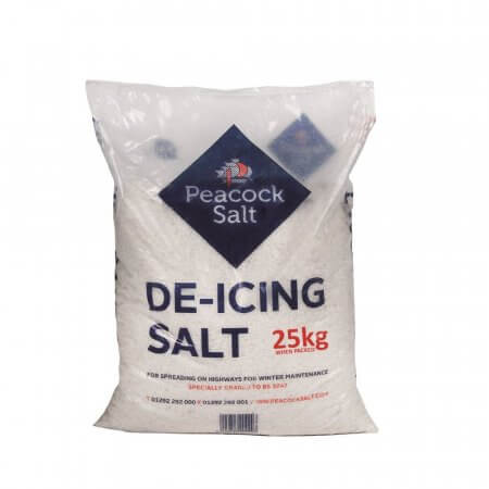 White De-Icing Salt - 25kg Single Bag