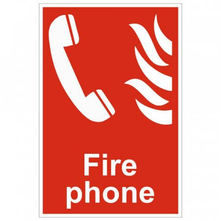 Fire Phone Location Signs